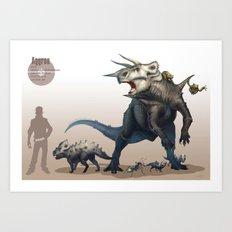 Pokemon-Aggron Art Print