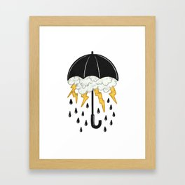 Umbrealla Storm Framed Art Print