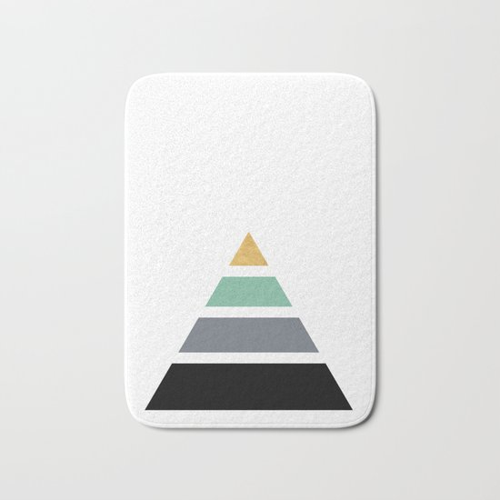 Divided Pyramid Triangle Wit Golden Capstone Bath Mat By
