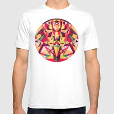 In the Middle of Something White Mens Fitted Tee MEDIUM