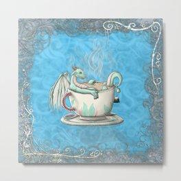 Tea Cup Dragons; Peppermint Metal Print