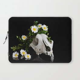 Animal skull with a wreath of wild flower Laptop Sleeve