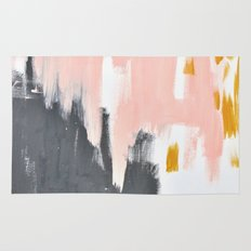 Gray and pink abstract Rug