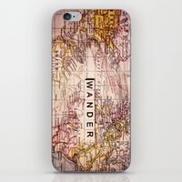 not all who wander are lost iPhone & iPod Skins featuring wander by Sylvia Cook Photography