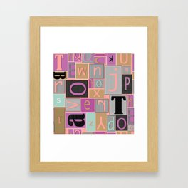 fun bright alphabet jumble Framed Art Print