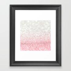 Pink Ombre Glitter Framed Art Print