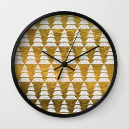 Geometric Christmas Trees 5 Wall Clock