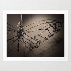 Broken Butterfly  Art Print
