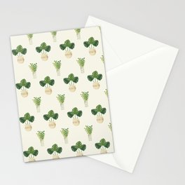 Modern ivory green tropical cheese monster leaves floral Stationery Cards