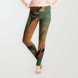 Abstract Painting ; Utah #2 Leggings