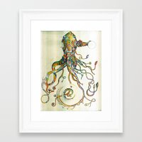 whimsical Framed Art Prints featuring The Impossible Specimen by Will Santino