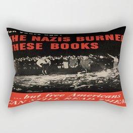Vintage poster - Burned Books Rectangular Pillow
