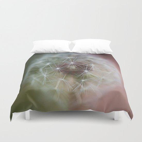 Dandelion Italian Flag Duvet Cover