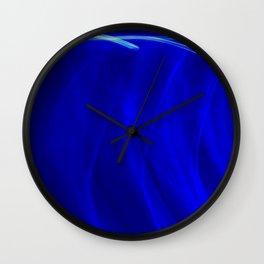 Abstract Behind Blue Eyes Wall Clock