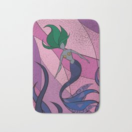 Mermaid Stained Glass (Royal) Bath Mat