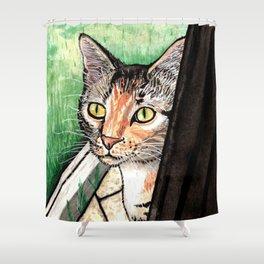 Feline Friend Shower Curtain