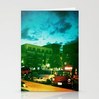 fargo Stationery Cards featuring Fargo City Nights Two, 2011 by Libby Walkup Photography