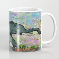 baby elephant Mugs featuring Baby Elephant by gretzky