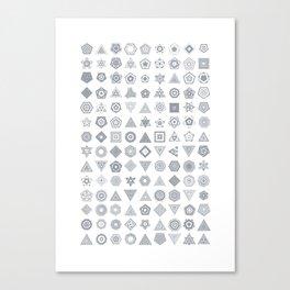 TypeFlakes A Canvas Print