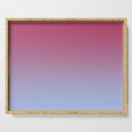 SPARKS OF TIME - Minimal Plain Soft Mood Color Blend Prints Serving Tray