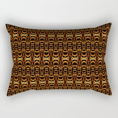 Dividers 07 in Orange Brown over Black Rectangular Pillow