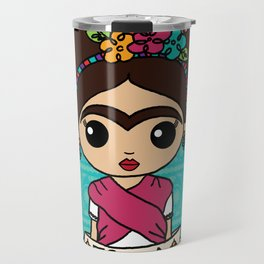 Frida with Flowers Travel Mug