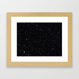 The texture of the rain drops at night Framed Art Print