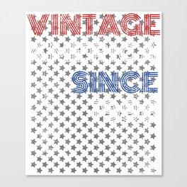 Patriotic Vintage 1996 23rd Birthday product American design Canvas Print