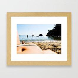 body in the sun Framed Art Print