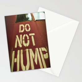 No Humping  Stationery Cards