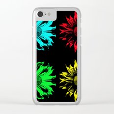 sunflower in the mirror Clear iPhone Case