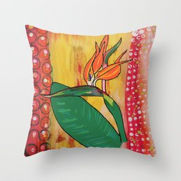 Bird of Paradise #1 Throw Pillow
