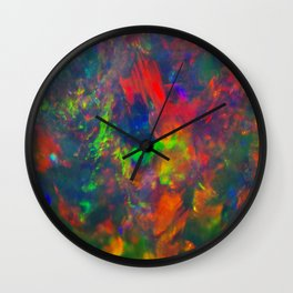 Black Opal from Lighting ridge  Wall Clock