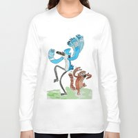 regular show Long Sleeve T-shirts featuring The Regular Show 'OOHHHH'  by Renatta Maniski-Luke