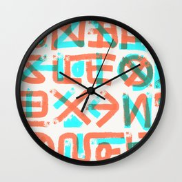 Abstract Graffiti Wall Clock