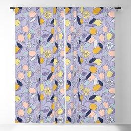 Lemon Grove in purple Blackout Curtain