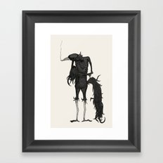 an old friend Framed Art Print