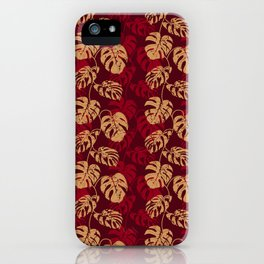 Monstera vines iPhone Case