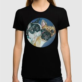 Fanci-Pants and Louie French Bulldogs T-shirt