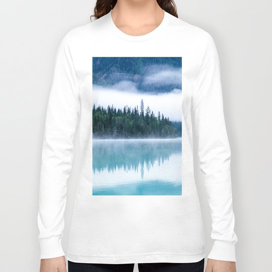 Blue nature #reflection Long Sleeve T-shirt