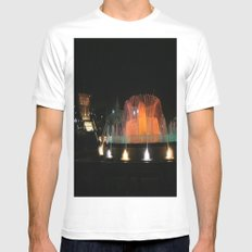 Barcelona Fountain White MEDIUM Mens Fitted Tee