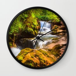 Swiss rapids. Wall Clock