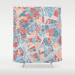 Krakow map Shower Curtain