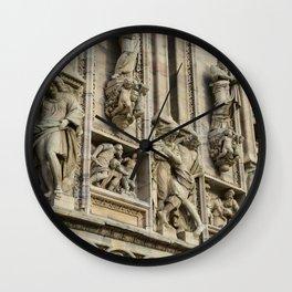 Milan Cahtedral / Exterior Study #2 / Pizzaza Duomo, Italy Wall Clock