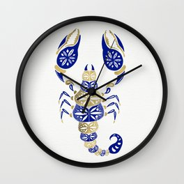 Scorpion – Navy & Gold Wall Clock