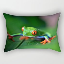 Little Tree Frog (Color) Rectangular Pillow