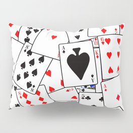 Random Playing Card Background Pillow Sham