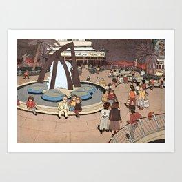Dizengoff Square in The 80s Art Print