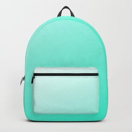 Aquamarine Blue To White Ombre Modern Color Design Backpack