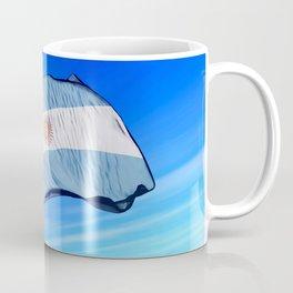 Argentina flag waving on the wind Coffee Mug